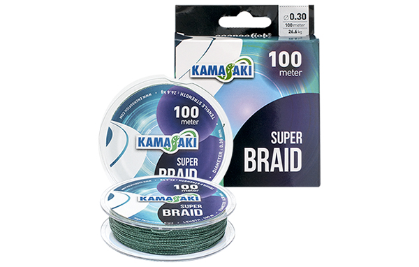 ŠNÚRA KAMASAKI SUPER BRAID 100M/0,40mm