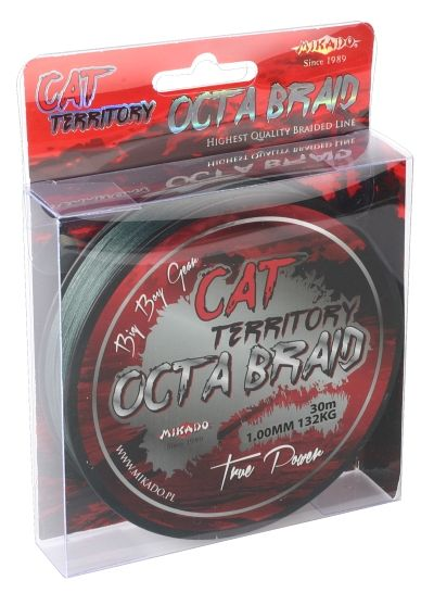CAT TERRITORY OCTA BRAID 1.00MM GREEN 30M