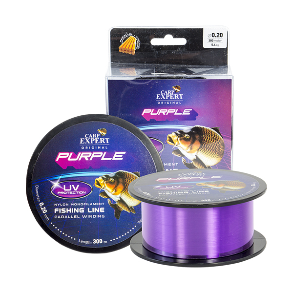 VLASEC CARP EXPERT UV PURPLE 0,25/1000m